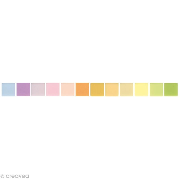 Mosaïque résine Opaque pastel x 225 gr - Photo n°1