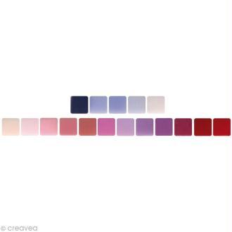 Mosaïque résine Opaque mauve / rouge x 225 gr