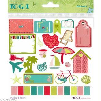 Stickers Toga Cap au sud 15 x 15 cm