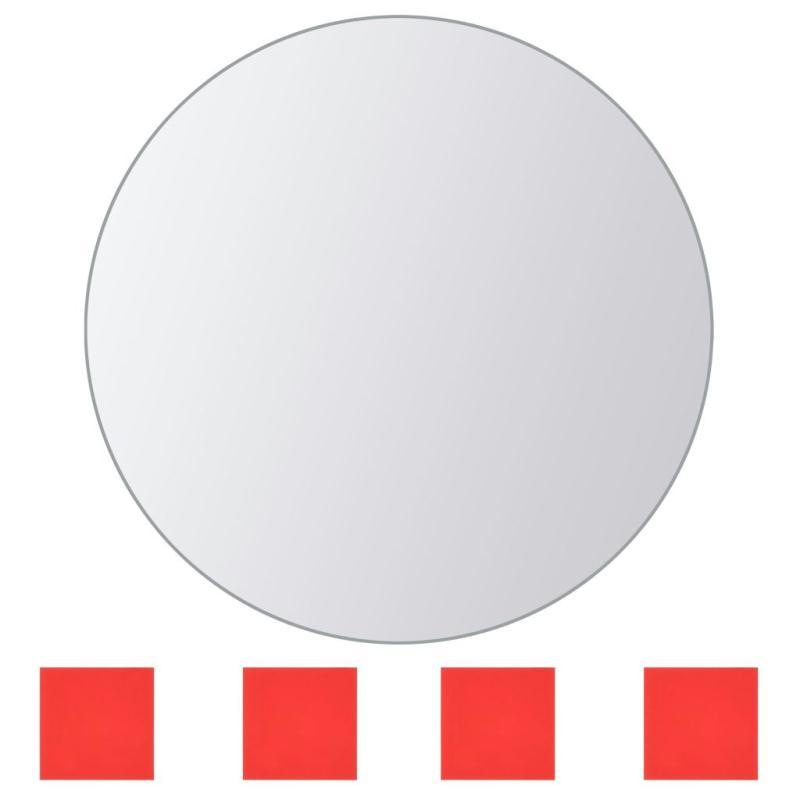 Vidaxl carreau de miroir 8 pcs rond verre miroir adh sif for Miroir dans l art