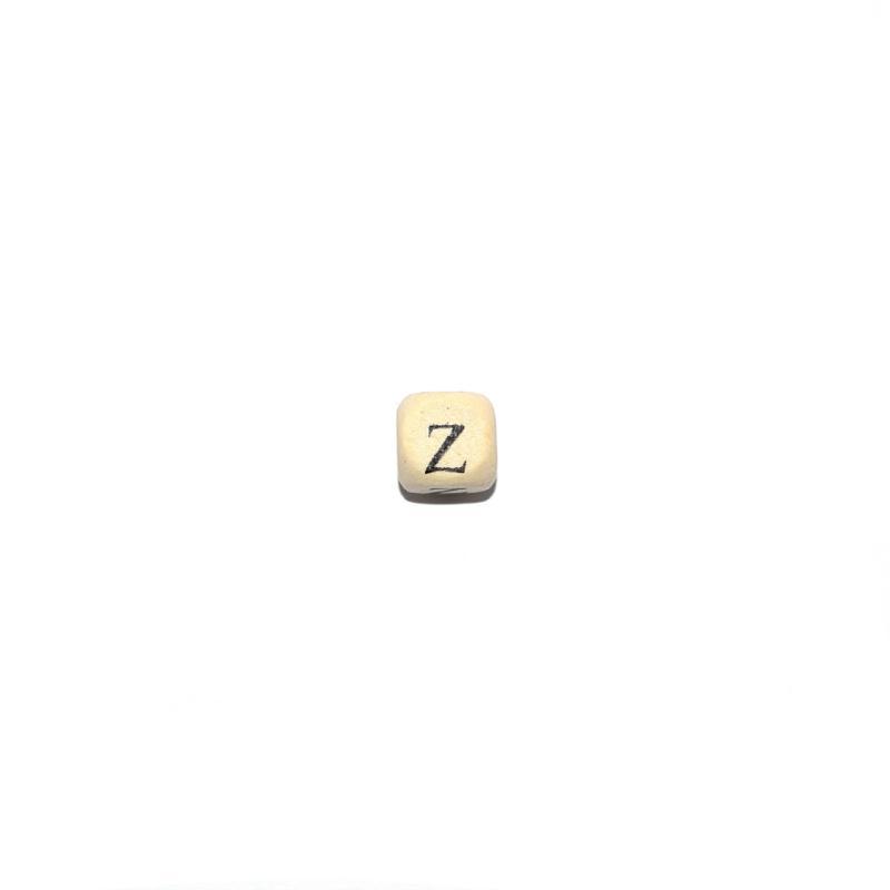 perle lettre z alphabet cube 10 mm en bois naturel. Black Bedroom Furniture Sets. Home Design Ideas