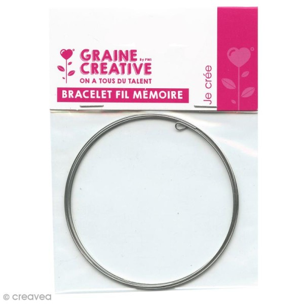 Bracelet fil mémoire - 6 mm -  5 tours - Photo n°1