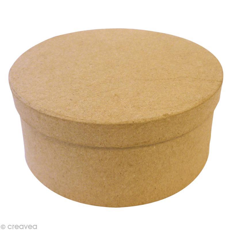 Bo te en carton ronde 14 5 cm boite en carton d corer for Boite ronde a decorer