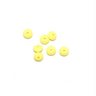 Perle lentille silicone 10 mm jaune