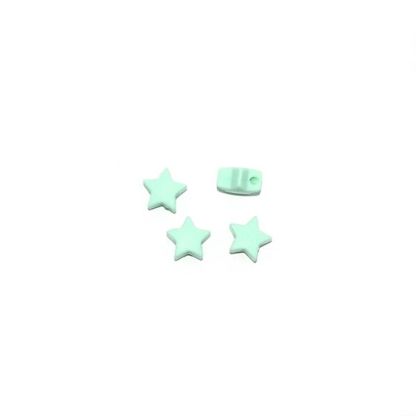 Anneau en silicone Fleur 43 mm pour hochet bébé Turquoise pastel
