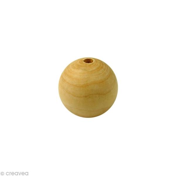 Perle en bois d'érable 8 mm x 200 - Photo n°1