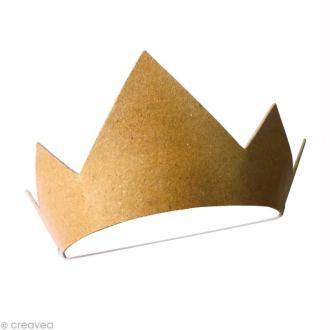 Couronne de prince en carton à décorer - avec élastique - 18 cm