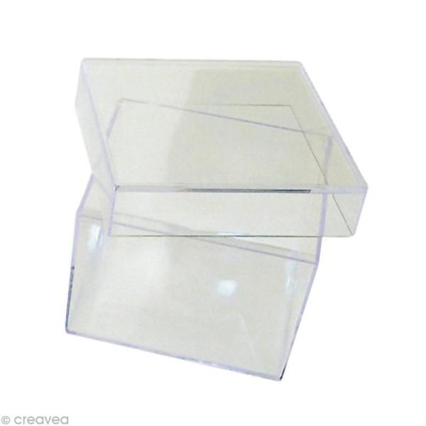 Boîte cristal carrée 7,5 x 7,5 cm - Photo n°1