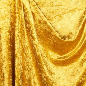 Tissu panne de velours - Jaune- Par 50cm
