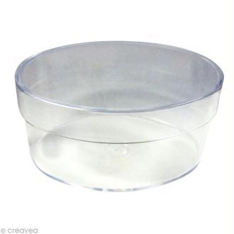 Boîte cristal ovale 11 x 7 cm