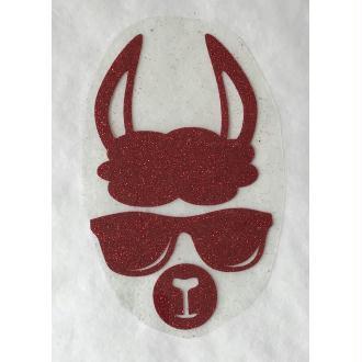 Motif thermocollant Lama à lunette