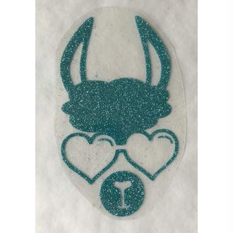 Motif thermocollant Lama lunette cœur