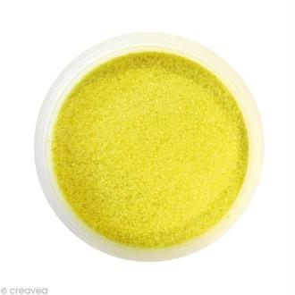 Sable fin coloré - Jaune 33 - 45 gr
