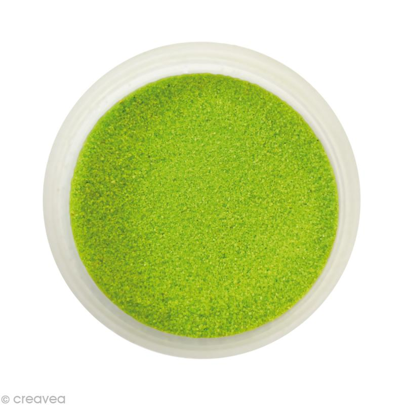 Sable fin coloré - Vert olive clair 27 - 45 gr - Photo n°1