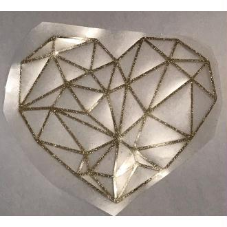 Motif thermocollant Cœur origami