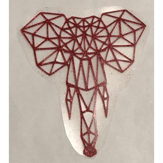 Motif thermocollant Tête d'elephant géométrique