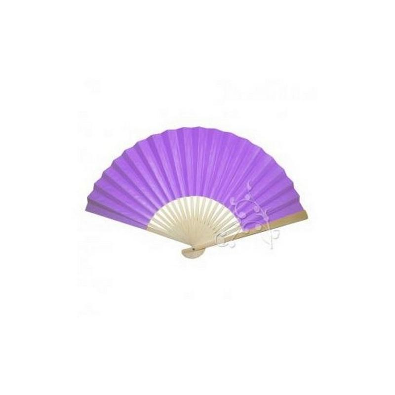 5 eventails en papier et bambou violet accessoires pour for Bambou en interieur