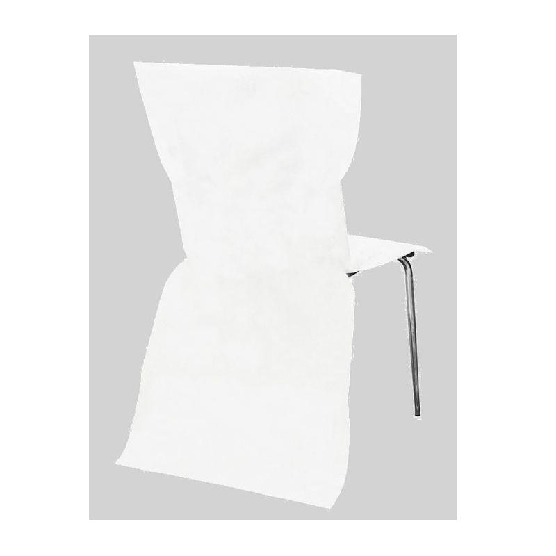 12 housses de chaise intiss blanc housses de chaise for Housse compactor avis