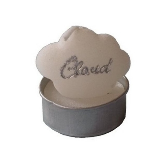 6 Bougies chauffe plat nuage blanche