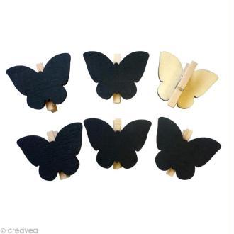 Pince à linge ardoise Papillon x 6