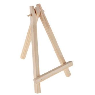 4 Chevalets en bois naturel de 14cm