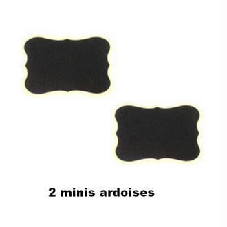 2 Minis ardoises marque place Vintage 7 cm x 5 cm