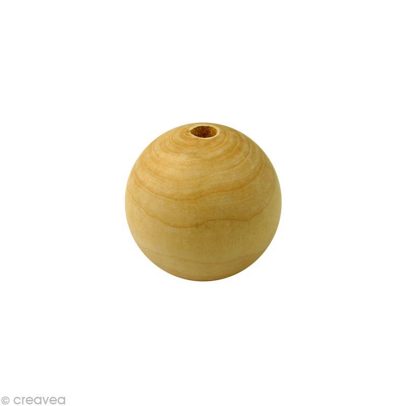 Perle en bois d'érable 12 mm x 100 - Photo n°1