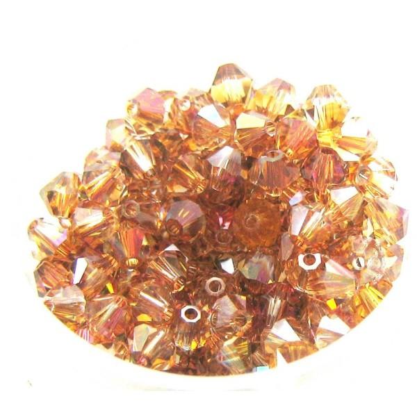 Lot 20 Toupies Cristal Swarovski Copper- 4 mm - Photo n°1