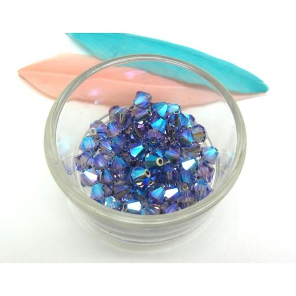 **50 perles toupies 4 mm AB SWAROVSKI  CRYSTAL AB     5328   **