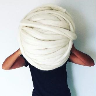 2 kilos | Laine Mérinos géante, laine de luxe pour du tricot XXL
