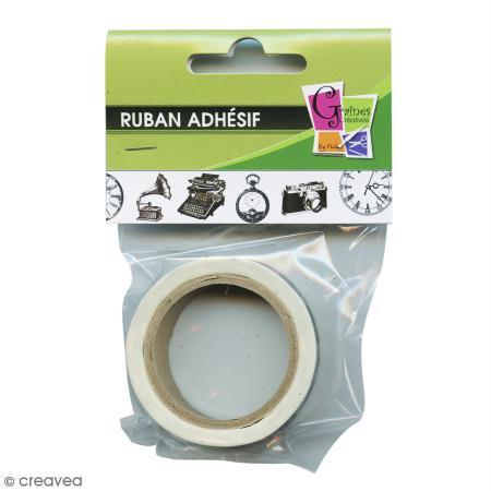 ruban adh sif d coratif anciens appareils 15 mm x 10 m masking tape motif creavea. Black Bedroom Furniture Sets. Home Design Ideas