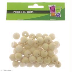 Perle en bois d'érable 15 mm x 50