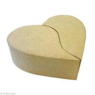 Boîte coeur 2 parties en carton 17 cm