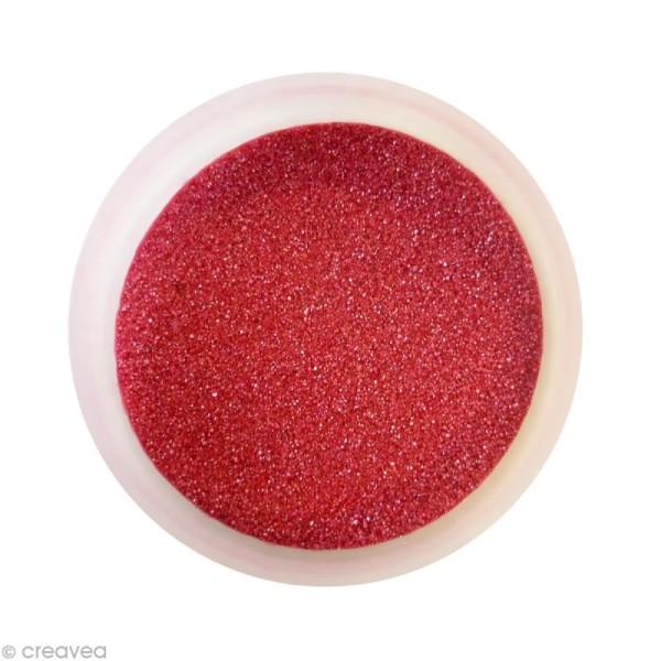 Sable fin coloré métallisé - Rouge 45 - 45 gr - Photo n°1