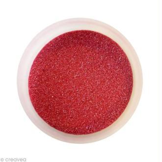 Sable fin coloré métallisé - Rouge 45 - 45 gr