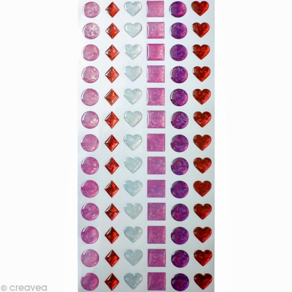 Stickers epoxy enfant 12 mm Fille x 78 - Photo n°1