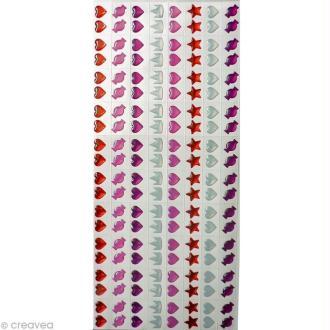 Stickers epoxy enfant 7 mm Fille x 160