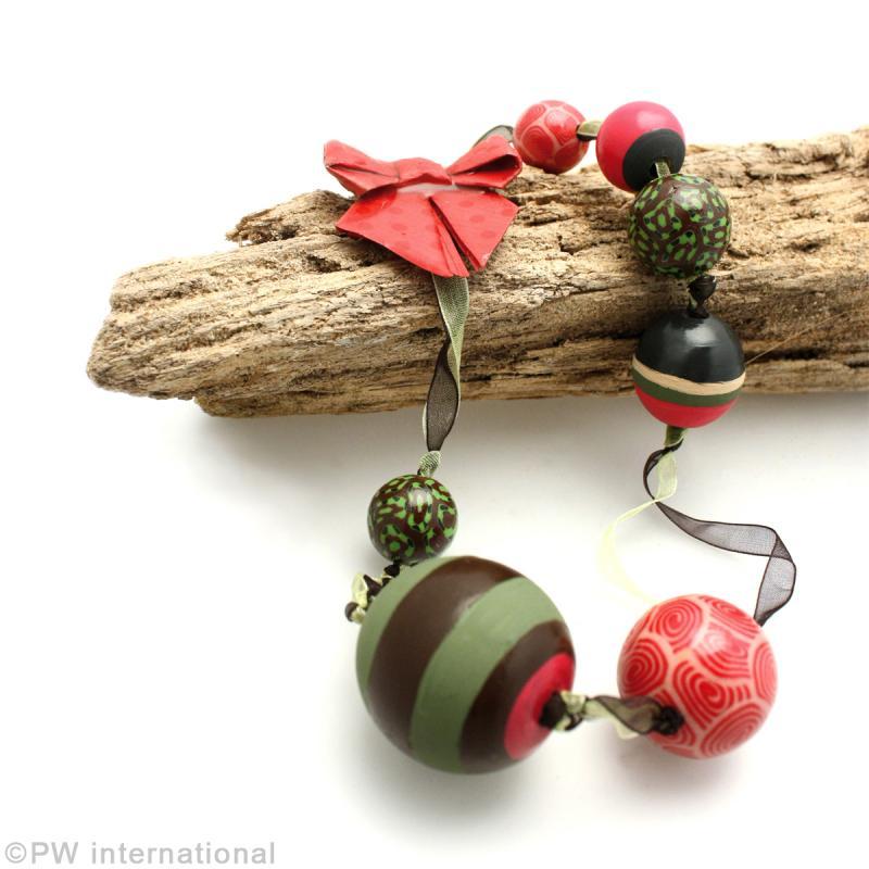 Perle en bois d'érable 18 mm x 50 - Photo n°2