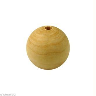 Perle en bois d'érable 18 mm x 50