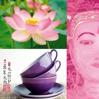 Serviette en papier Culture - Thé et lotus