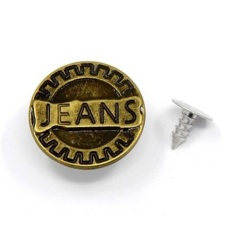 LOT 10 Boutons à Jeans en métal à vis