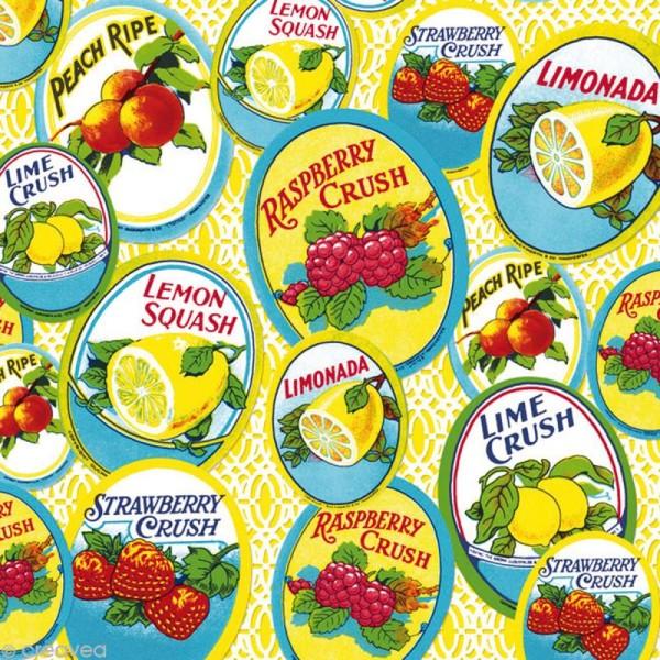 Serviette en papier Cuisine - Etiquettes classiques - Photo n°1