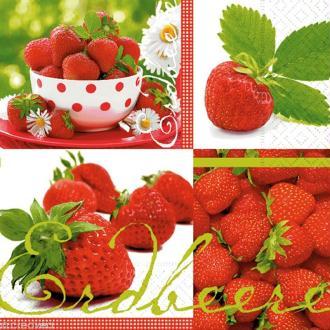 Serviette en papier Fruit - Le goût des fraises
