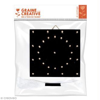 Mini set tableau string art - Rosace - 11 x 11 cm