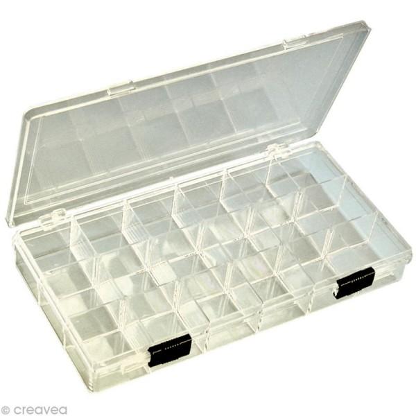 Boîte à perles rectangulaire 18 compartiments - Photo n°1