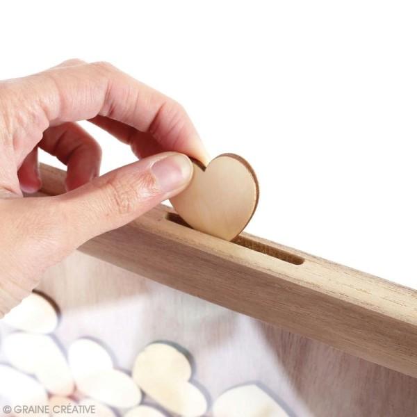 Cadre à message en bois à décorer - coeur - 30 x 42 cm - Photo n°3