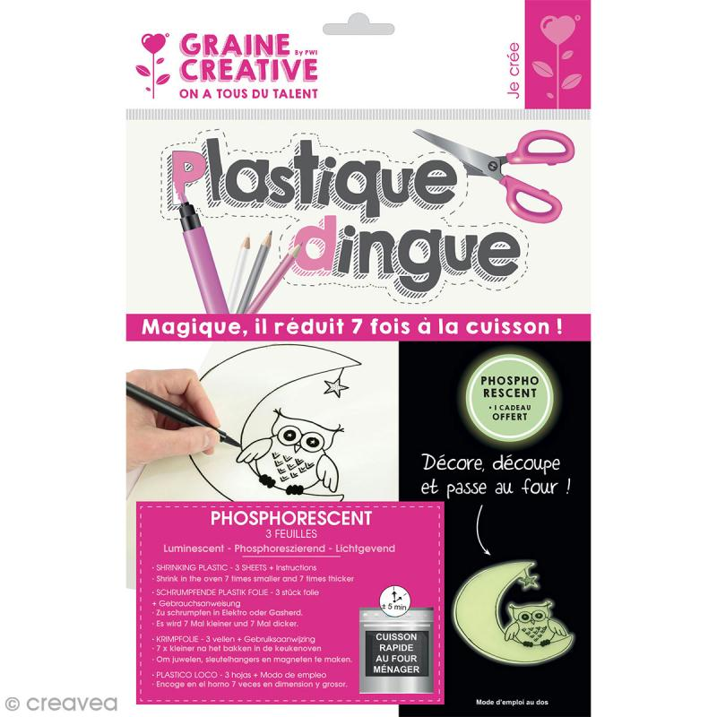 Plastique dingue uni - Phosphorescent - 3 pcs - Photo n°1