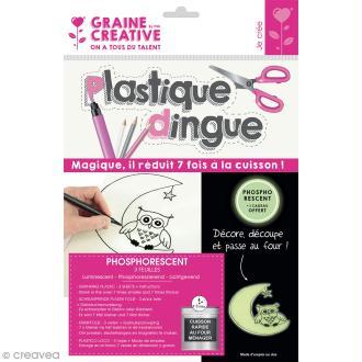 Plastique dingue uni - Phosphorescent - 3 pcs