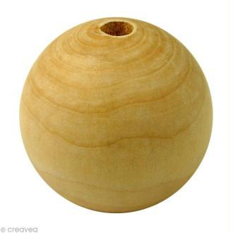 Perle en bois d'érable 40 mm x 10