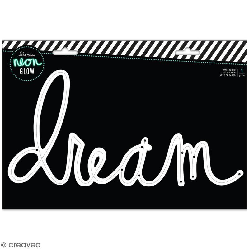 support pour cordon mural n on dream 35 x 18 5 cm kit lectrique lampe creavea. Black Bedroom Furniture Sets. Home Design Ideas